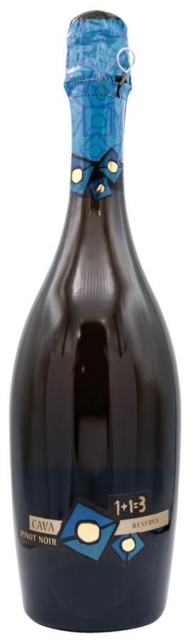 Cava 1+1=3 Brut Nature Pinot Noir Blanc de Noirs